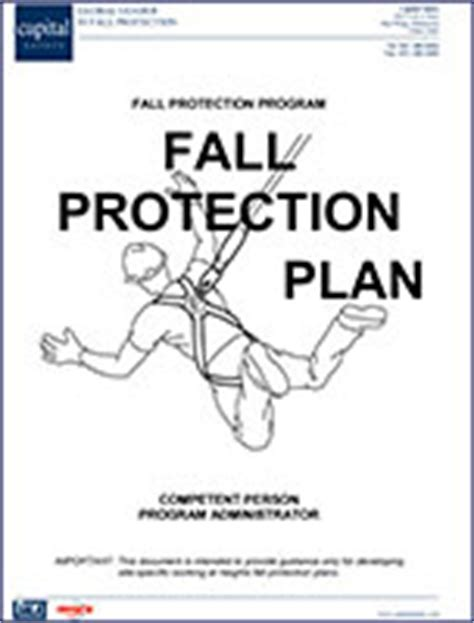 fall protection plan template fall protection plan fall protection capital safety
