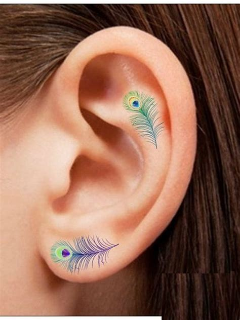 earlobe tattoo designs 55 excellent mini ear designs meanings powerful