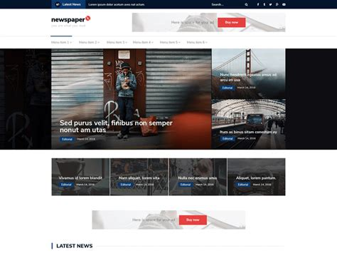 x theme blog template 10 free news wordpress themes 2017 themely