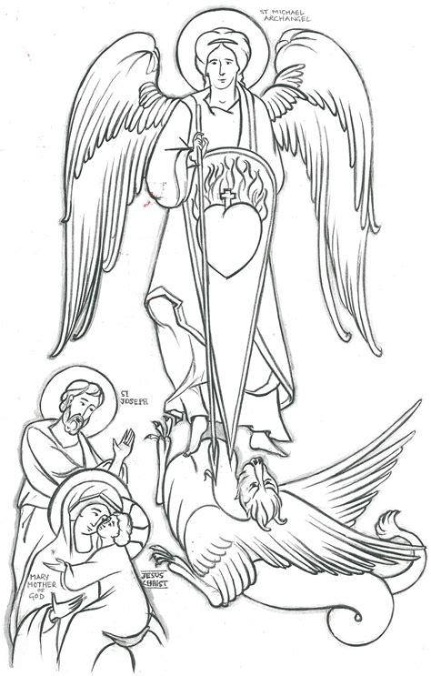 Free Saint Michael Coloring Pages St Michael Coloring Page