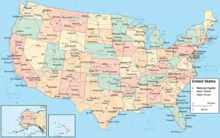 state map of showing cities usa city map map of usa with satates cities usa polical