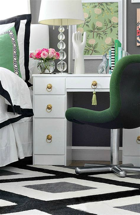 delectable  black  white  green bedroom design decoration helena source