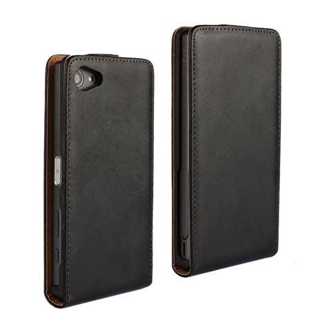 Sarung Flipcover Casing Xperia Z5 Minicompact for sony xperia z5 mini genuine vertical flip leather