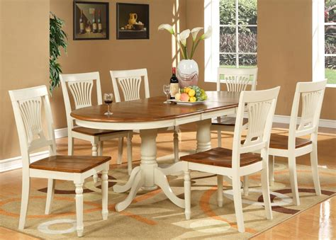 kitchen table set 7pc dinette dining set table 42x78 with 6 wood seat chairs