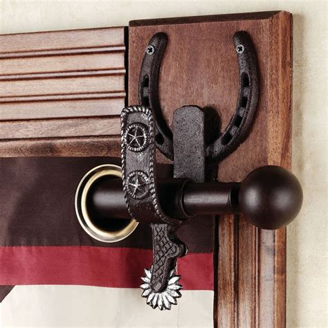 horse curtain rod rod holders curtain rods and westerns on pinterest