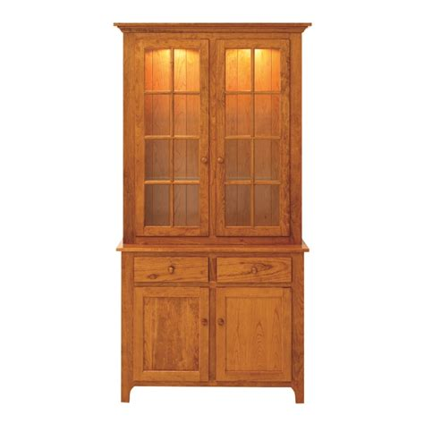 Shaker Hutch shaker 2 door hutch handcrafted china hutch solid wood