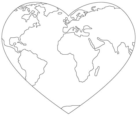heart earth coloring pages part 2