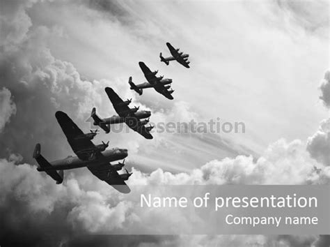 raf aeroplane airplane powerpoint template id 0000029262 upresentation