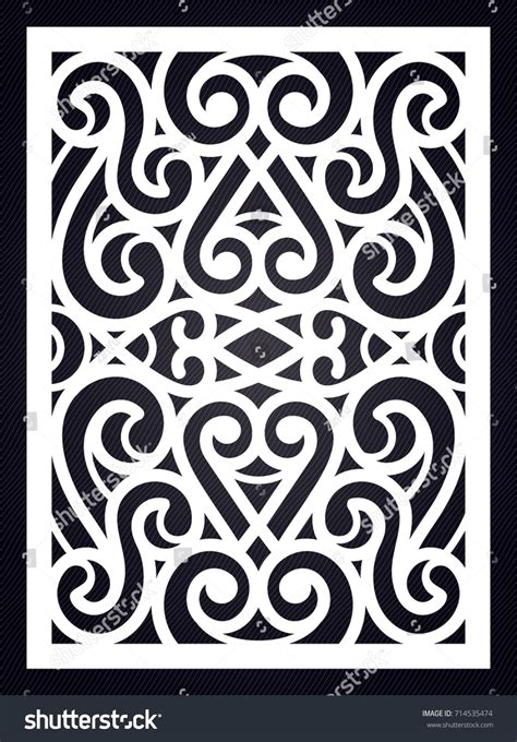 geometric pattern laser cut ornamental swirl template cutting exterior silhouette