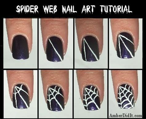 Nail Art Tutorial Websites | spider web nail art tutorial pictures photos and images
