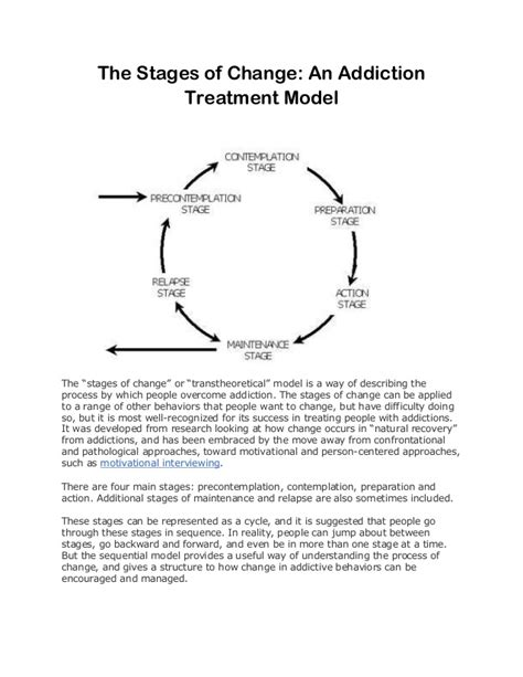Enhanced Model Detox Treatment by The Stages Of Change An Addiction Treatment Model Of Care