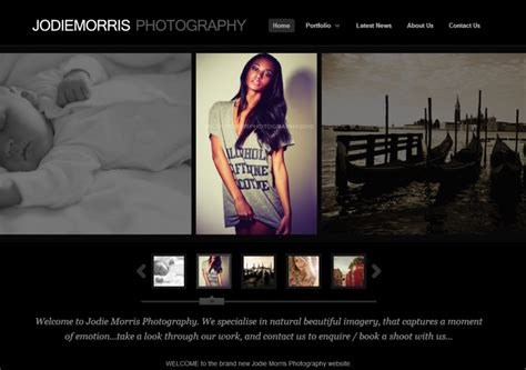 best web layout for photography jodie morris photography guru media