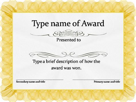 free award certificate templates word free award templates new calendar template site