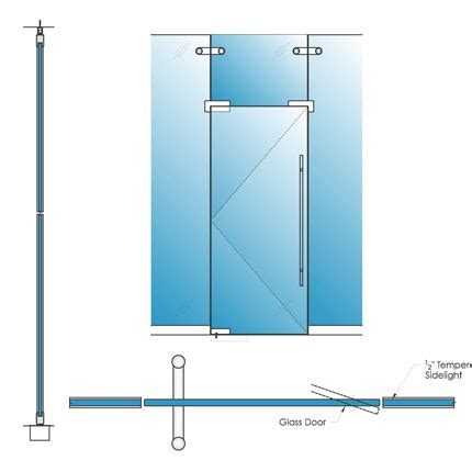 Single Glazed Glass Herculite Doors Avanti Systems Usa Glass Door Detail