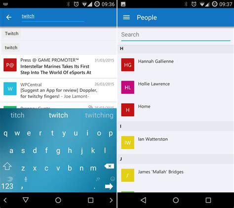 outlook on android microsoft adds new address book and calendar features to outlook for android android central
