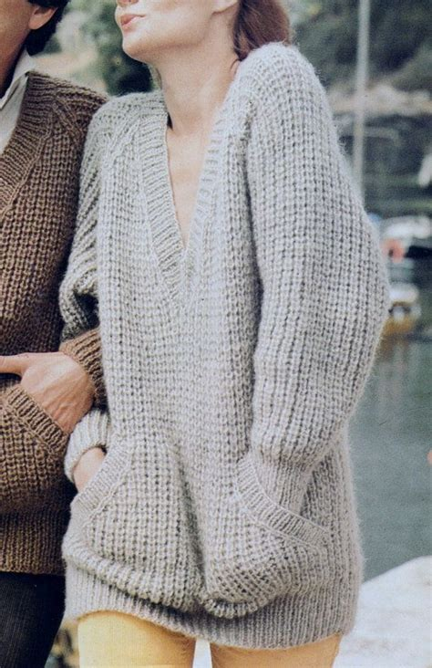 pattern for knitting a jumper instant download pdf vintage row by row knitting pattern