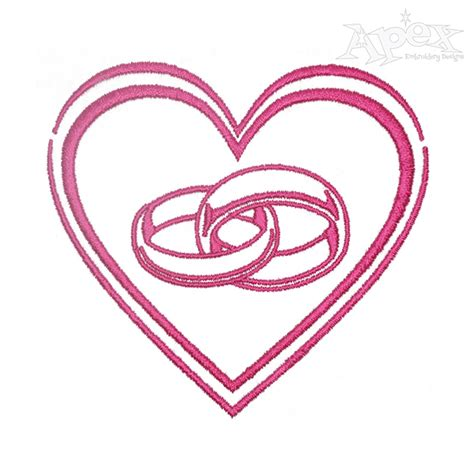 Wedding Ring Machine Embroidery Design by Wedding Rings Embroidery Design