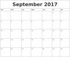 Editable Calendar Templates by September 2017 Editable Calendar Template