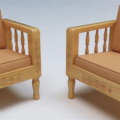 wooden sofa models sofa set wooden 3d model max obj 3ds fbx lwo lw lws