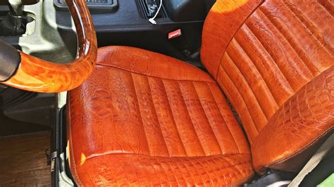 Alligator Skin Leather Auto Upholstery In Los Angeles
