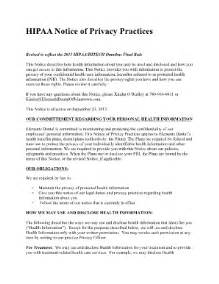 Notice of privacy practices notice of privacy practices this notice