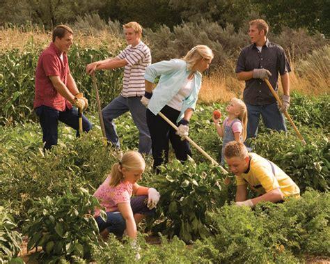family gardening plant a garden