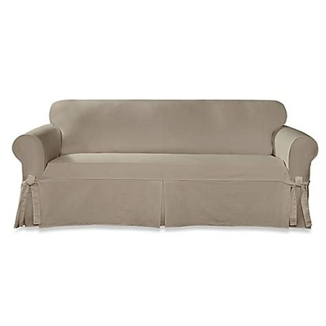 Sure Fit 174 Designer Twill Sofa Slipcover Bed Bath Beyond Twill Slipcover Sofa