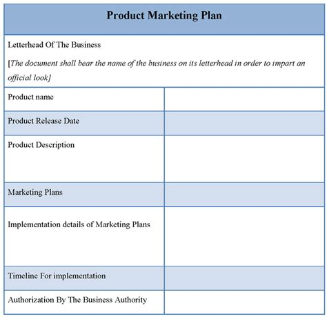 comfortable free marketing plan template template costumepartyrun
