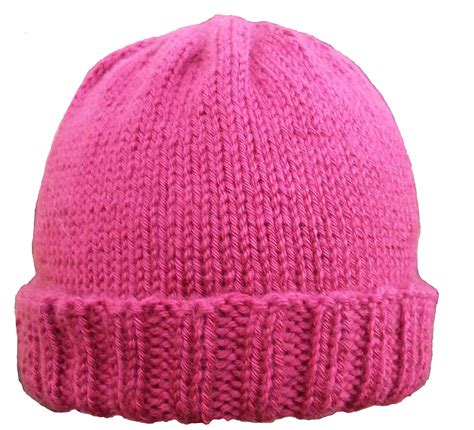 simple pattern for knitted beanie ribbed brim hat pattern easy knitting knitting patterns