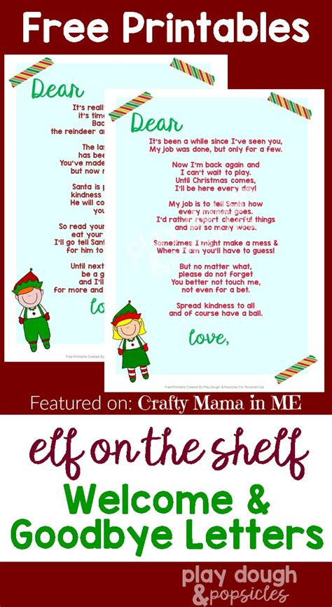 free printable on the shelf letter on the shelf letters free printables crafty