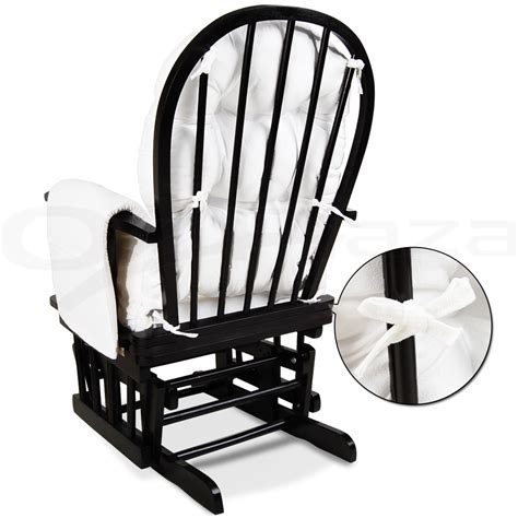 Antique Black Rocking Chair by Glider Baby Breast Feeding Sliding Rocking Chair With