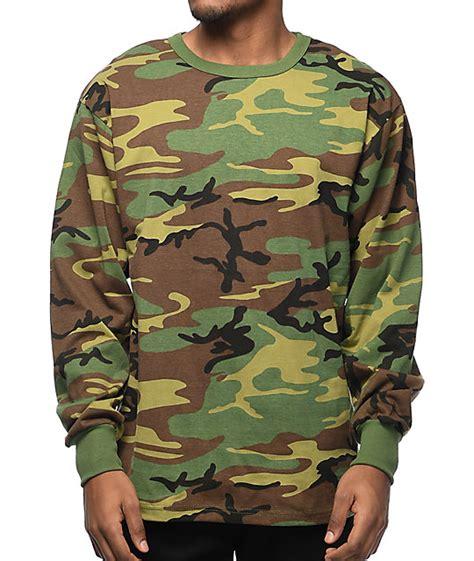 rothco woodland camo sleeve t shirt zumiez