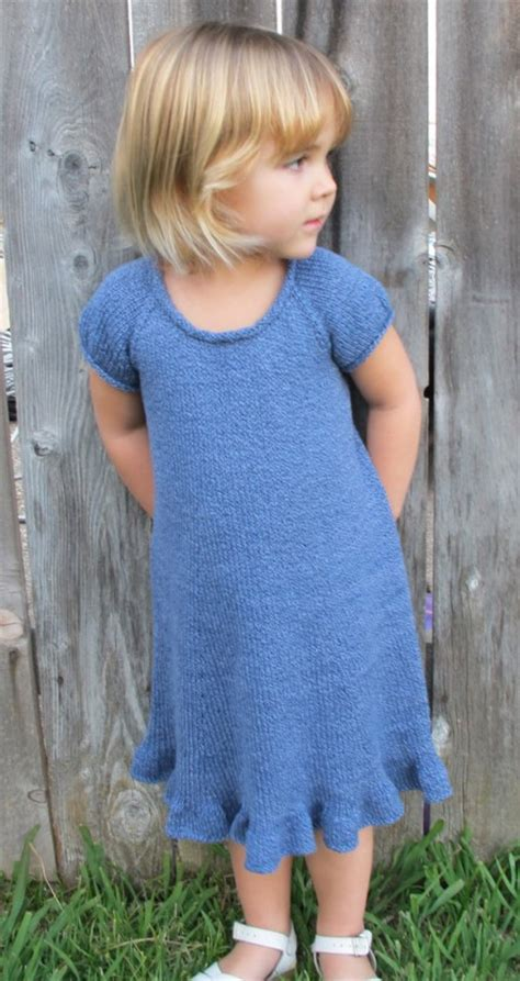 pattern for simple knit dress 122 little girls top down dress knitting pure and simple