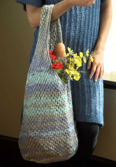 free knitted tote bag patterns linen concerto knit bag free pattern nobleknits