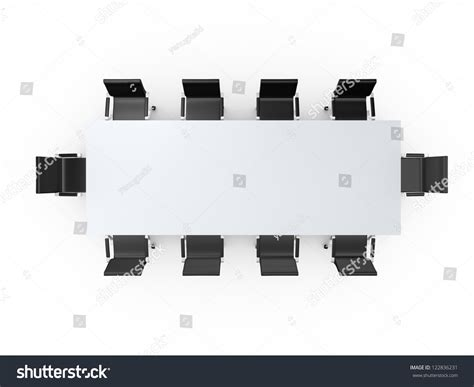 conference table black office chairs meeting stock illustration  shutterstock