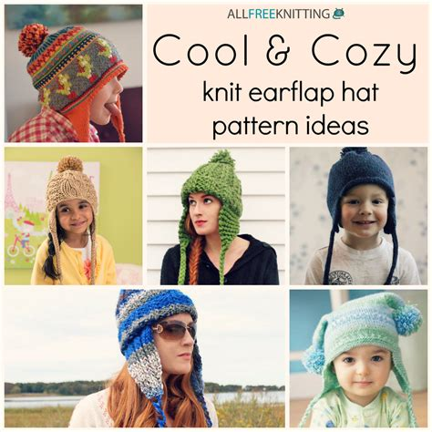 cool cozy 24 knit earflap hat pattern ideas