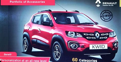 renault kwid red colour images renault kwid accessories list detailed motoroids