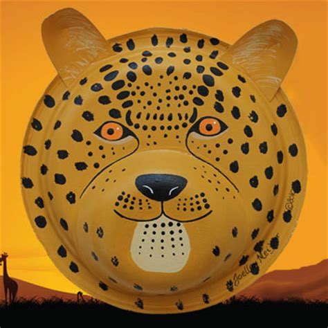 how to make a jaguar mask cheetah jaguar and leopard mask animaplates