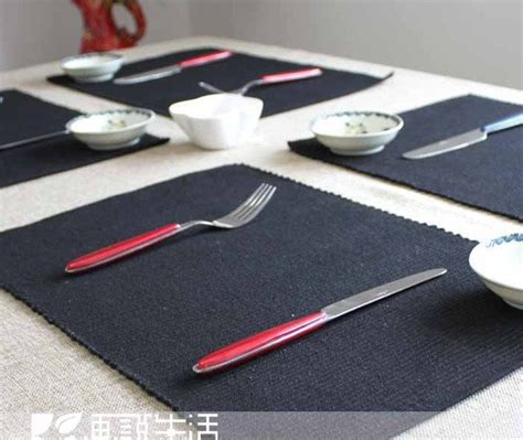 Dining Table Mats Color Placemats 100 Cotton Fabric Mat Dining Table