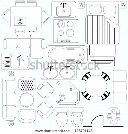 floor plan furniture collection stock image image shutterstock puzzlepix