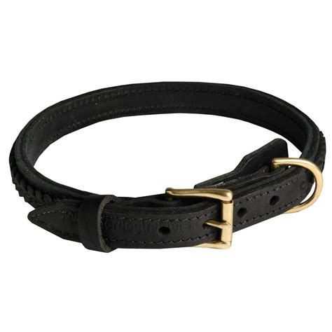 rottweiler collar 1 inch gorgeous braided leather collar for rottweiler rottweiler store