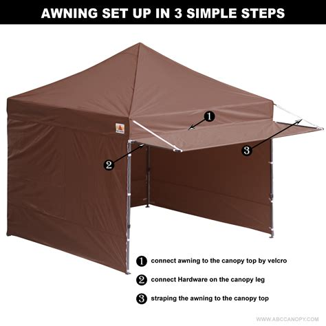 popup awning 10x10 abccanopy easy pop up canopy tent instant shelter