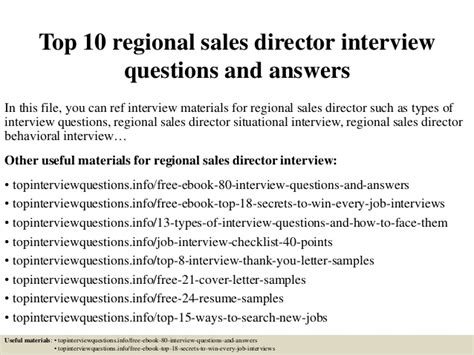 Best Photos Of Regional Sales top 10 regional sales director questions and answers