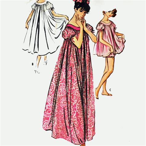 vintage nightgown pattern 50s vintage nightgown pattern womens lingerie pattern