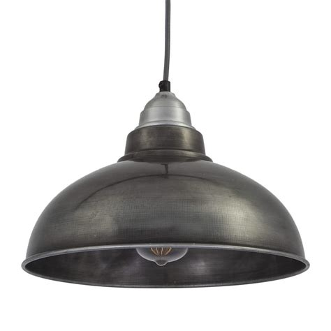 Retro Pendant Light Vintage Style Pendant Light Grey Pewter With 12 Inch Shade