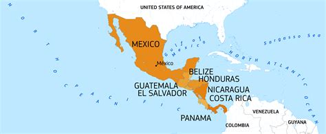 map of usa mexico and central america central america and mexico european commission