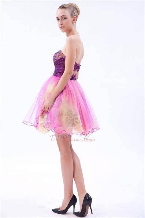 Sweet Colour Dress multi color leopard print inside unique dress for sweet 16