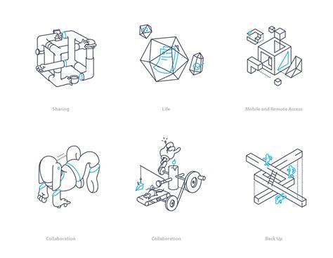 Dropbox Illustrations   dropbox rhythm concept on behance
