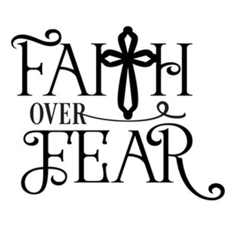silhouette design store view design 135497 faith over fear