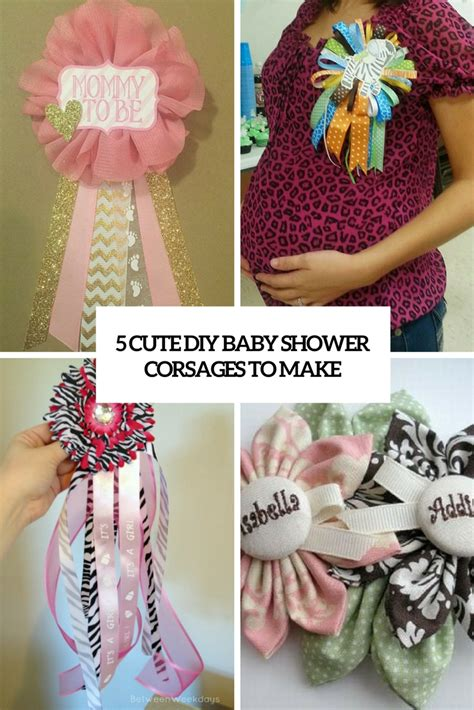 diy baby shower corsage diy baby shower corsages pictures to pin on
